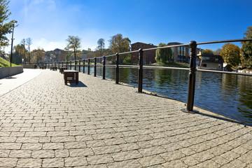 Mill Island - Brda River in Bydgoszcz - Poland