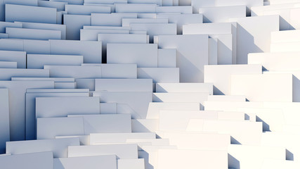 scattered cubes - 8k abstract background