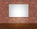 Fototapety brick wall and wood floor background
