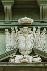 Stemma famiglia nobile, fregio, scultura, Pisa