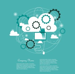 Cloud computing concept