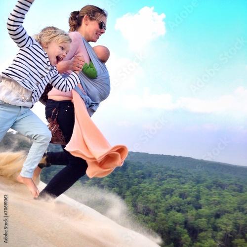 canvas print picture jump dune du pilat