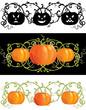 Three vector pumpkins for thanksgiving