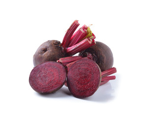 Fresh beetroot isolated on white