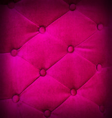 Buttoned on pink texture sofa repeat background.