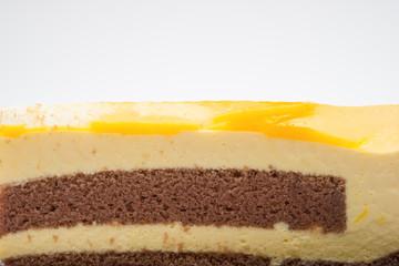 yummy cake close up