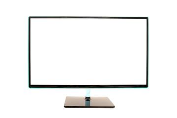 Modern blank white computer monitor