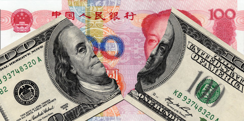 tearing USD and RMB in the bottom