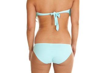back teal swim wear