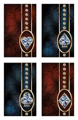 Brilliant poker cards, vector illustration