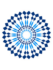 Schöne Blume Kreis Rund Logo