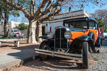 Vintage cars in  in Colonia del Sacramento, Uruguay