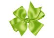 canvas print picture - бантик зеленый атласный