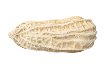 Peanut isolated on white with clipping path.