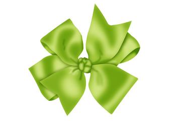 бантик зеленый атласный