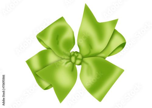 canvas print picture бантик зеленый атласный