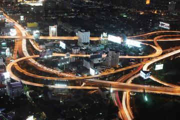 Bangkok expressway night