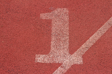 running track number - for the athletes