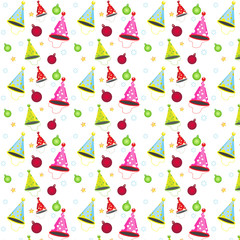 seamless vector pattern decoration party for background