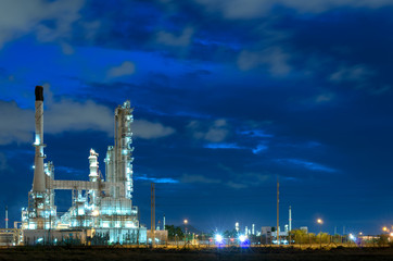 Refinery plant During