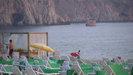 Beach scene at Alanya Turkey