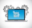 digital world computer sign illustration design