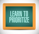 learn to prioritize sign message illustration poster