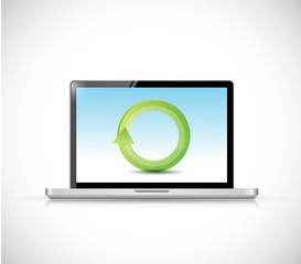 laptop cycle illustration design