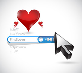 find love. search online illustration design