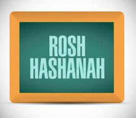 rosh hashanah sign message illustration design