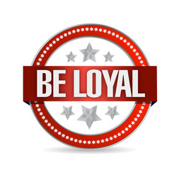 be loyal seal illustration design