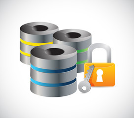 servers security protection lock illustration