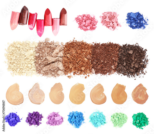 Cosmetics collage isolated on white © Africa Studio