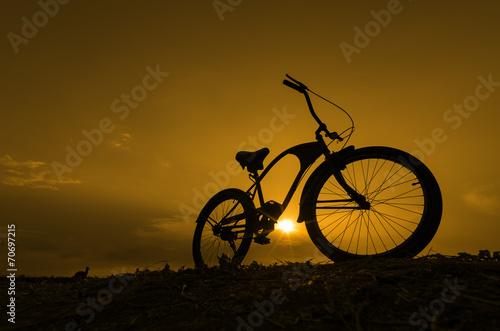 Fototapeta Silhouette bike