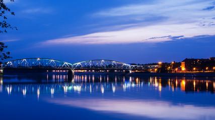 Marshall Jozef Pilsudski Bridge over the Vistula (Torun, Poland)