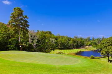Golf field - island Praslin Seychelles