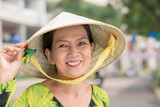 Woman in a conical hat
