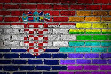 Dark brick wall - LGBT rights - Croatia