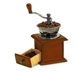 coffee mill isolated on white