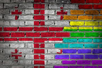 Dark brick wall - LGBT rights - Georgia