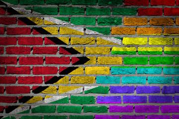 Dark brick wall - LGBT rights - Guyana