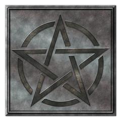 Pentagramm . Metallplatte S