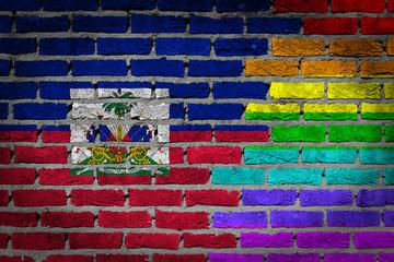 Dark brick wall - LGBT rights - Haiti