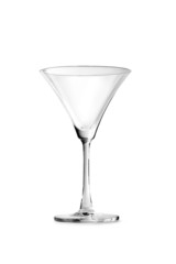 Martini glass. Glass. Vector.