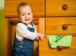 Domestic chores - baby at drawer