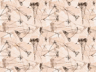 seamless brown background from dry plants