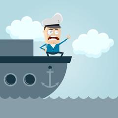 kapitän schiff boot anführer richtung