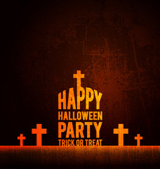 Vector Happy Halloween party poster for your design