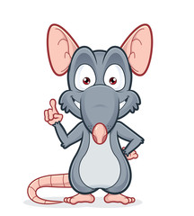 Rat pointing upwards