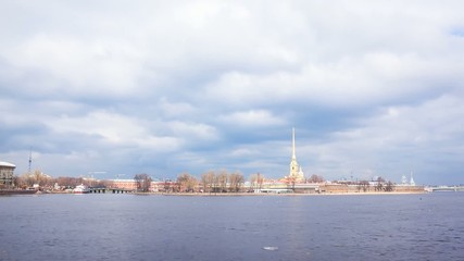 Peter And Paul Fortress, Saint Petersburg, Time Lapse